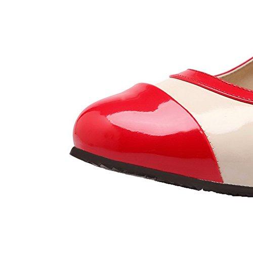 Pumper Farge Røde Hæler Assortert sko Spenne Kattunge Kvinners Voguezone009 Pu wqUnx0SzBW