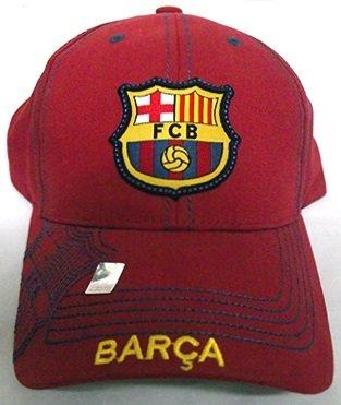 非公式肥料想起FCバルセロナフットボールクラブサッカー公式ロゴ刺繍調節可能な帽子キャップレッド