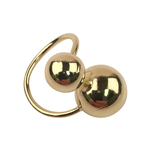 Sheila Fajl Ana Double Bubbles Adjustable Ring in Polished 18k Gold Plated