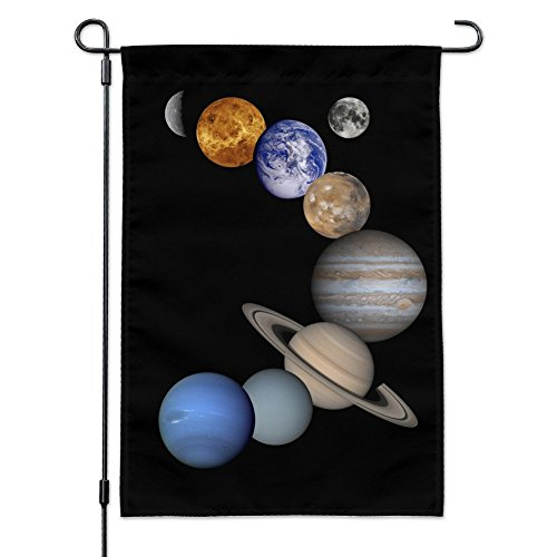 Venus Solar System - Graphics and More Solar System Planets Mercury Venus Mars Earth Moon Jupiter Saturn Uranus Neptune Garden Yard Flag with Pole Stand Holder