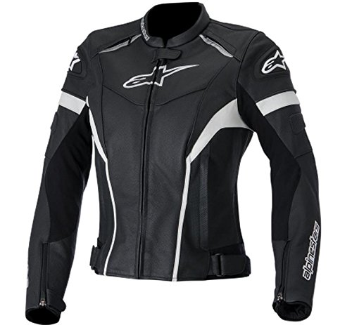 Alpinestars Stella GP Plus R Leather Womens Jacket, Gender: Womens, Primary Color: Black, Size: 42, Apparel Material: Leather, Distinct Name: Black/White 3110514-12-42