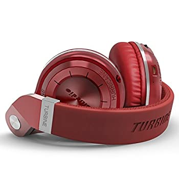 Bluedio T2 Plus Turbine Wireless Bluetooth Headphones With Micmicro Sd Card Slotfm Radio (Red) 4