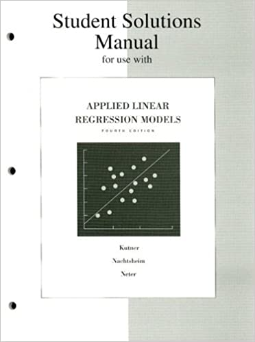 Applied Linear Regression Models 4th Edition Pdf Kutner