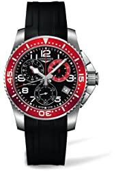 Longines HydroConquest Chronograph Black Dial Stainless Steel Mens Watch L36904592