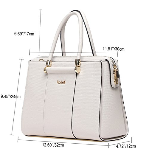 Ladies White Women with Kadell Leather PU Luxury for Large Compartments Bags Gray Handbags Bags Girls Shoulder Party Tdnd4q