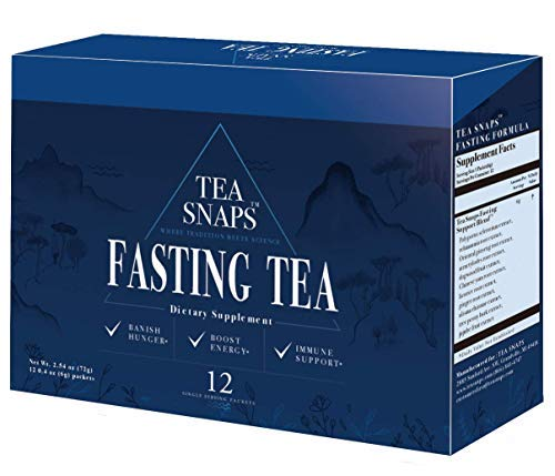 (Immortalitea Fasting Tea - 11 Powerful Herbs Support Fasting, Detox, Cleansing and Weight Loss - Curbs Appetite and Boosts Energy - All-Natural Microgranules - 12 Single Serving Instant Tea Packets)