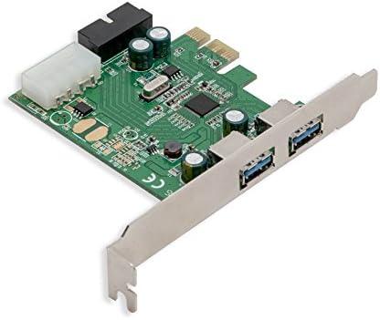 Syba 2 External USB 3.0 Port and 19 Pin Internal Header PCIe 2.0 x1 – 4 Port USB 3.0 PCI-Express x1 Renesas D720201 Chipset Molex Power Input