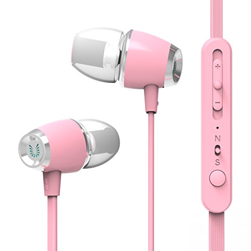 UiiSii U5 Stereo Bass Headphone Perfect Quality In-Ear Earphones With Microphone and Volume Control For IPhone Samsung Ipod Smartphone MP4 (Pink) Review