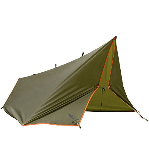 FREE SOLDIER Large Waterproof Tarp Multifunctional Outdoor Camping Traveling Rain Fly Awning Backpacking Tarp shelter Rain Tarp(Brown)