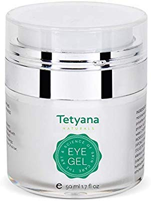 41xFZsOEuJL - Tetyana naturals Eye Gel with Allantoin, Hyaluronic acid for Puffiness, Wrinkles, Dark Circles (50ml)