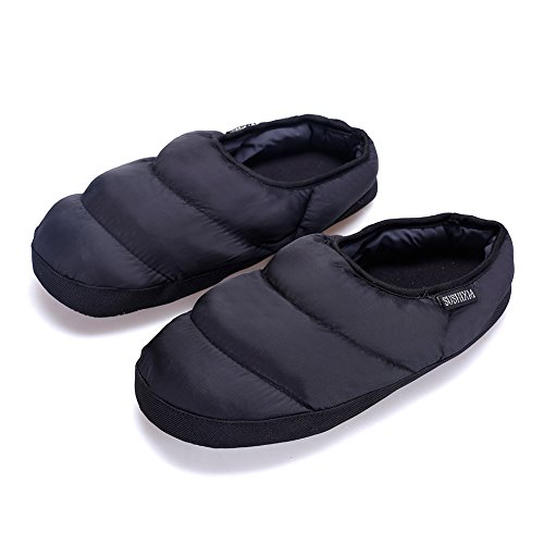Arke Uomo E Donna Lana Calda Morbida Pantofole Antiscivolo Memory Foam Suola Caviglia Pantofole Nere
