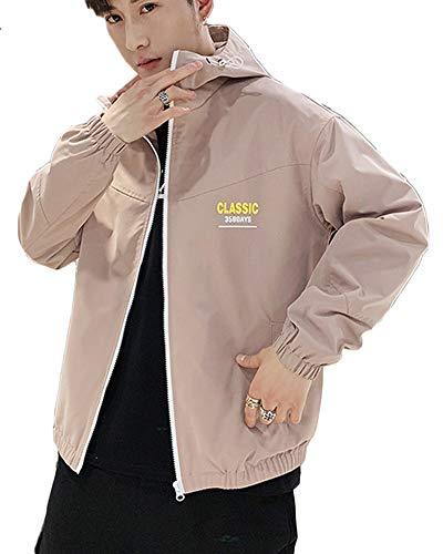 Épaissir Manteaux À Chaud Pink Capuche Poches Longue Manteau Hommes Veste Trench Hiver Zippé 8vqzqd
