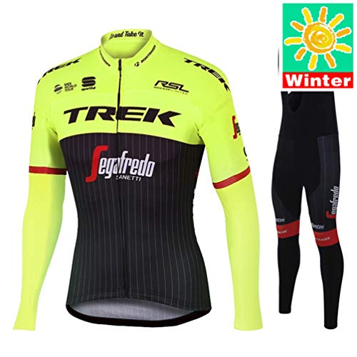 XiXiMei Style 12 Mountain BIK Winter Thermal Warm Long Sleeve for Men MTB Cycling Jacket and Bib Tights Set Medium