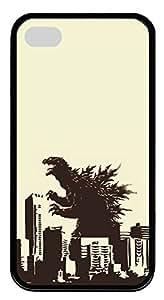 iPhone 4 4S Case Godzilla TPU Custom iPhone 4 4S Case Cover Black