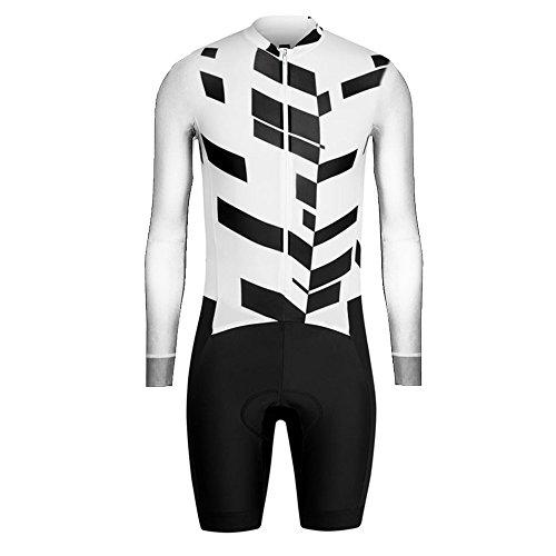 Uglyfrog Designs Men's Triathlon Tri Suit/Suit Long Sleeve Top+Short Legs Quick Dry Cycling Skinsuit - Triathlon Race Suit with Extended Zippers Breathable & Durable Cycling Speedsuit
