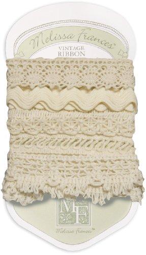 Melissa Frances 5-Style Craft Lace Trim, 18-Inch, Cream