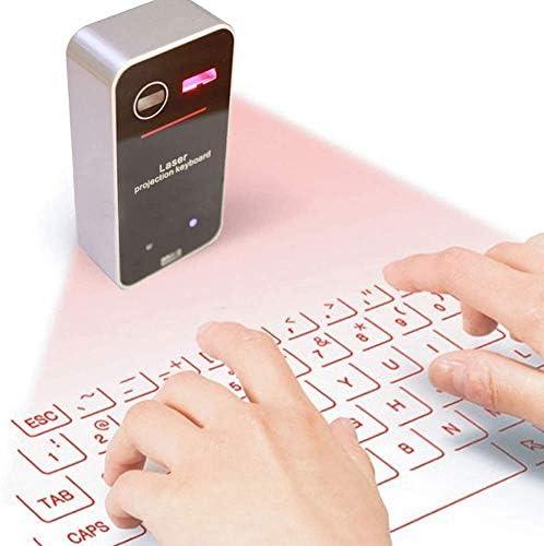 DWIN Teclado inalámbrico Bluetooth Proyector, Teclado láser ...