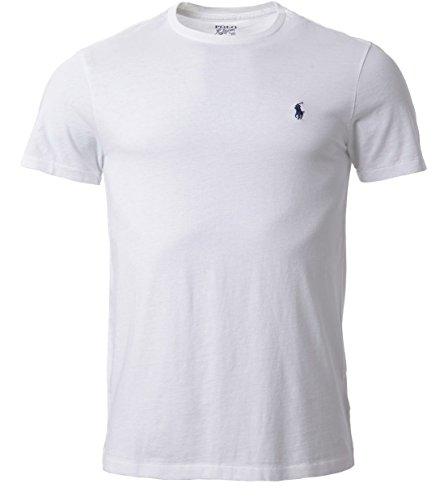 Ralph Lauren Herren T-Shirt, V-Ausschnitt, Größe M, Weiß
