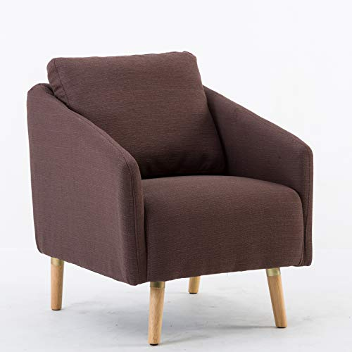 Mecor Modern Accent Chair Comfy Upholstered Arm Chair Fabric Single Sofa Living Room Furniture (One)