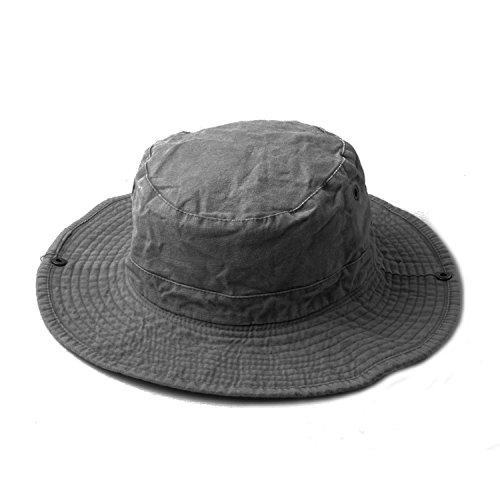 Gray sombrero Smell palanca El Denim Bucket Accessoryo Safari con ajuste de 5qntBPP1w