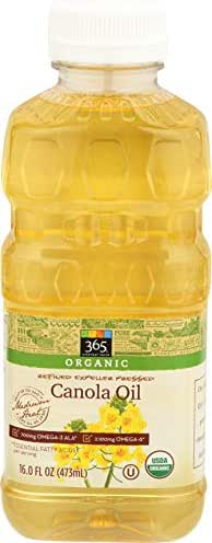 Cooking Oils: 365 Everyday Value Organic Canola Oil