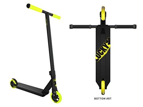 Lucky CREW Complete Pro Stunt Scooter, 2017 Black/Hi-liter