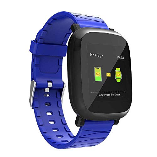 Price comparison product image Jennyfly Health Tracker Watch,  1.3 inch Color Screen Bluetooth Living Waterproof Men Women Sport Bracelet with Heart Rate / Blood Pressure / Sleep Monitor Running Watch Compatible for iOS / Android - Blue