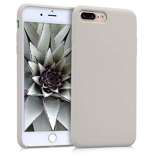 kwmobile TPU Silicone Case for Apple iPhone 7 Plus / 8 Plus - Soft Flexible Rubber Protective Cover - Beige