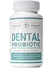 Dental Probiotic 60-Day Supply. Oral probiotics for Bad Breath, Tooth Decay, Strep Throat. Boosts Oral Health and Combats halitosis. Contains Streptococcus salivarius BLIS K12 & BLIS M18.