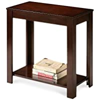 Wood Cappuccino Brown End Side Accent Table