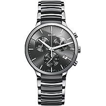 Rado Centrix Chronograph Dark Grey Dial Platinum-tone Ceramic Mens Watch R30122122 by Rado