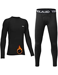 Boy's Long Sleeve Compression Shirts Thermal Fleece Lined Baselayer Youth Kids Athletic Sports Tops