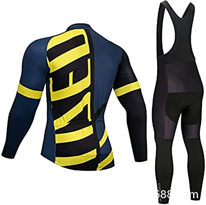 Conjuntos de ropa de ciclismo Jersey de ciclismo para hombre Conjunto de  jersey de ciclismo Jersey + pantalones acolchados de gel Traje de ciclismo  ... 472400a5b47