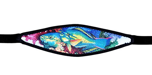 Parrot Fish Print Neoprene with Nylon Strap for Scuba or Snorkel Mask