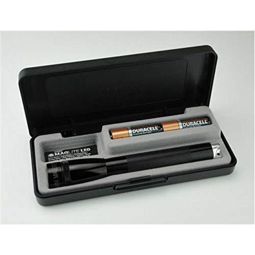Maglite, Mini Maglite Spectrum Series Flashlight, AA, Black Body, White LED - White Black Body Led