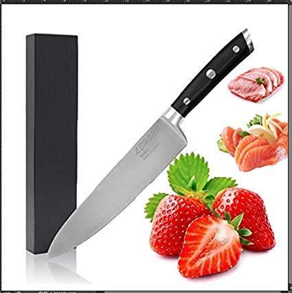 Cuchillos Cocina Cuchillos de Cocinero 20.5cm de Acero Inoxidable Importado material Profesionales Láser patrón de Damasco con Caja de Regalo