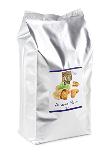 Almond Flour, UNBLANCHED Almonds Healthy Flour, Extra Fine Ground Almonds Meal - Oh! Nuts (3 LB Bag Natural Whole Almond Flour) by Oh! Nuts® (Image #1)