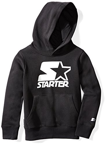 Price comparison product image Starter Boys' Pullover Logo Hoodie, Prime Exclusive, Black with White Logo, M (8/10)