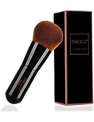 Flat Makeup Kabuki Brush Professional Make Up Face Foundation Stippling Concealer Brushes for Liquid Powder BB Cream Blending Mineral Beauty Tools Gift Set(Black)