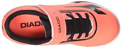 Diadora 7fifty Tf Jr Ve, para los Zapatos de Entrenamiento de Fútbol Unisex Niños Rojo (Rosso Fluo/nero)