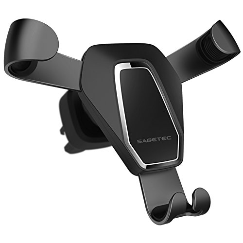 Sagetec Gravity Phone Holder for Car, Auto Clamping Metal Ar