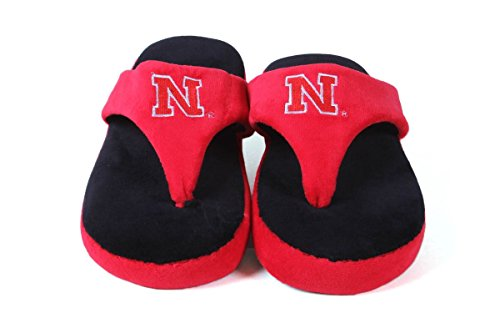 Ncaa College Comfy Flop - Offisielt Lisensiert - Glade Føtter Menns Og Kvinners Nebraska Cornhuskers