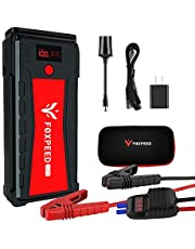 Foxpeed 2500A Car Battery Starter, 21000mAh Portable Auto Jump Starter(up to 8L Gas, 6.5L Diesel Engine), 12V Auto Battery Booster with USB Quick Charge, Power Pack with Built-in LED Flashlight