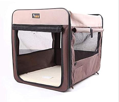 REAYOU Transportin para Perros Plegable Jaula portátil para ...