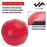 JFIT Wall Medicine Ball, Red/Black, 20 LB
