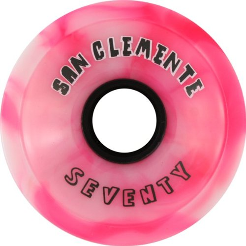 San Clemente Summer Classic 70mm 78a Peppermint Skateboard Wheels (Set of 4)