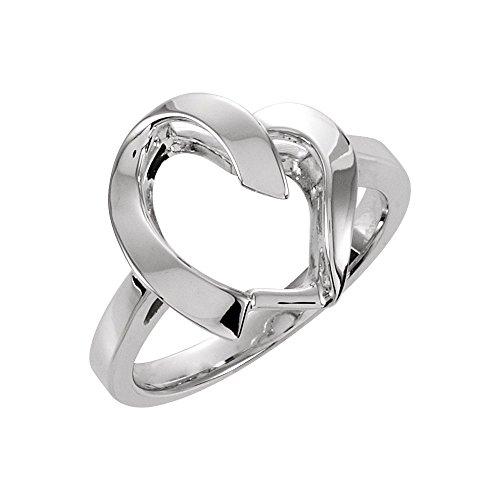 rings, 14K White Freeform Remount Ring