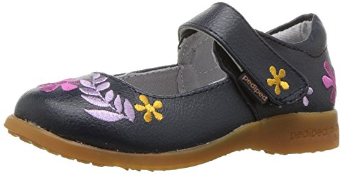 Price comparison product image pediped Girls' Flex Tabitha Mary Jane Flat,  Navy,  26 E EU Toddler (9-9.5 US)