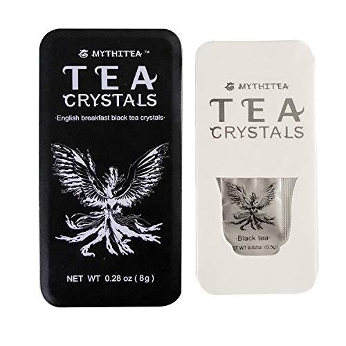 Mythitea Natural English Breakfast Black Tea Crystal,Digestion,Antioxidants,Super Food,16 Single Serve Bags Per Iron Box