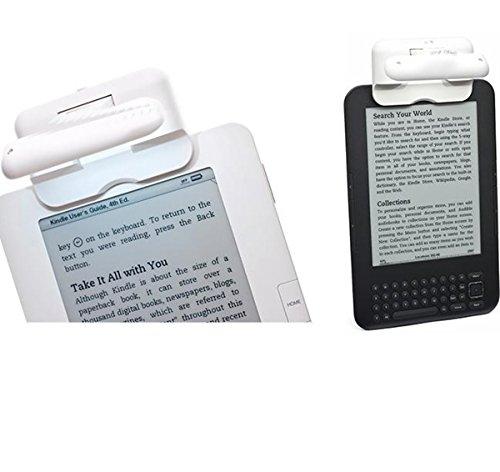 LED-Lichtshop® 1 Stück LED-Leselicht - LED Klemmleuchte - Licht für eBook-Reader mit 2 Helligkeitsstufen sehr hell leicht und handlich ein perfektes Geschenk nicht nur für Leseratten (schwarz)